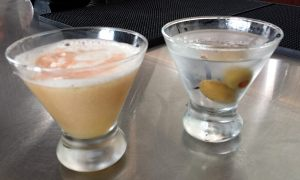 Hendrick's Martini and ArcLight Sour